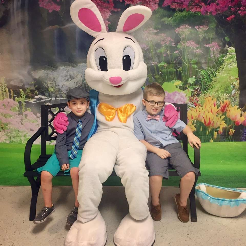 Timmy and Jack Broderick hang with the Easter