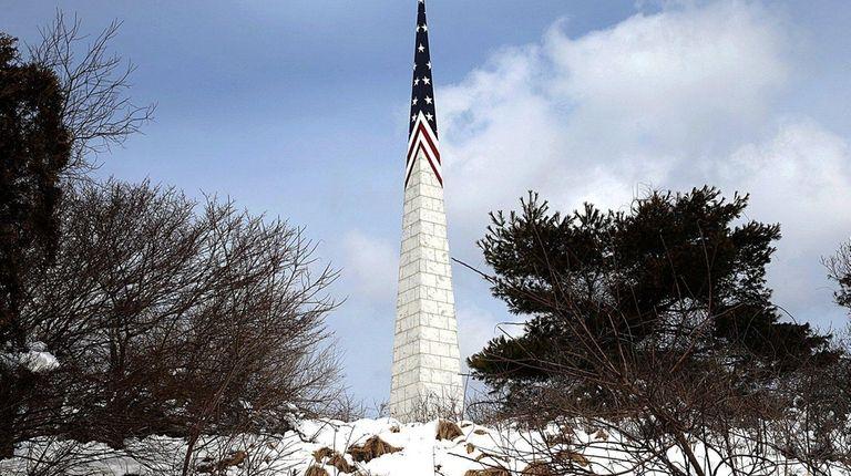 Bald Hill is home to the landmark obelisk