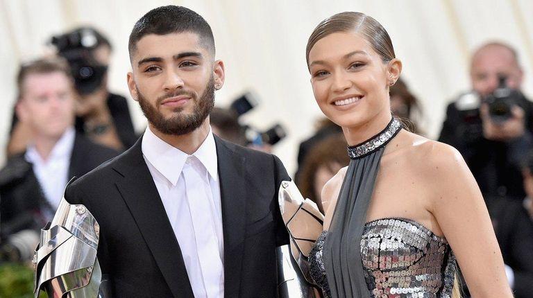 Zayn Malik and Gigi Hadid attend the Met