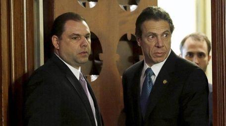 Joseph Percoco and Gov. Andrew M. Cuomo, seen
