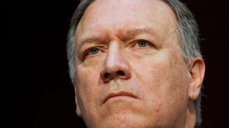 CIA Director Mike Pompeo on Capitol Hill in