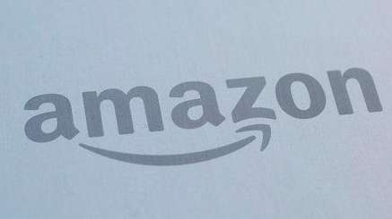 The Amazon logo is displayed in Manhattan on