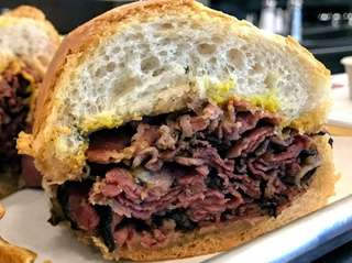 Among the sandwiches at Irving's World Famous Pastrami
