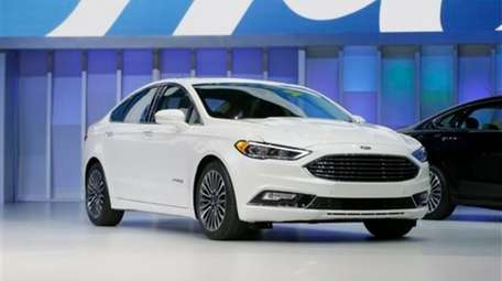 The Ford Fusion hybrid at the North American