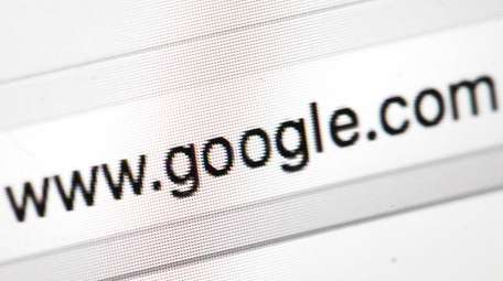 Google's web address is shown in this April