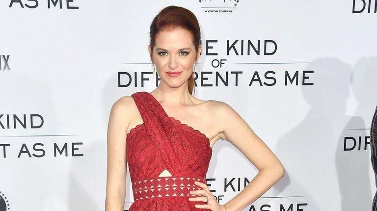 Sarah Drew attends the premiere of