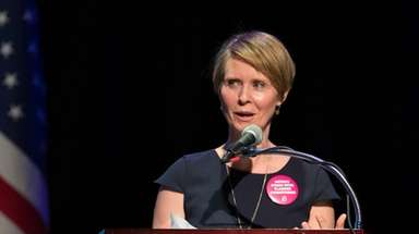 Cynthia Nixon, seen here on Jan. 29, at