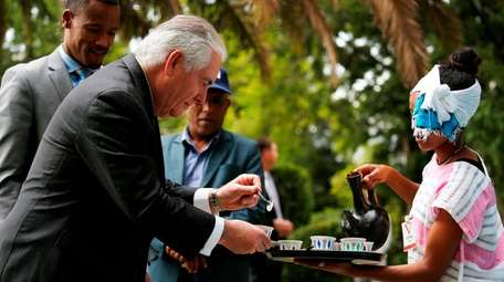 Secretary of State Rex Tillerson, who was fired