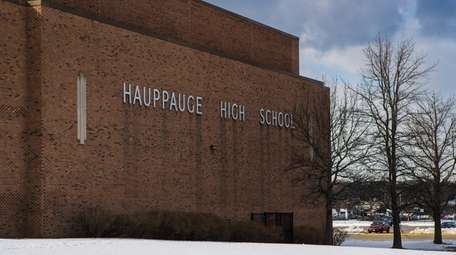 Hauppauge High School on Wednesday.
