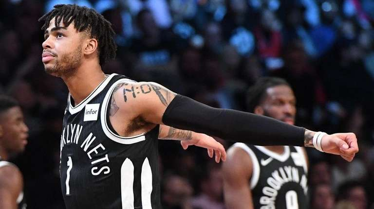Brooklyn Nets guard D'Angelo Russell against the Toronto