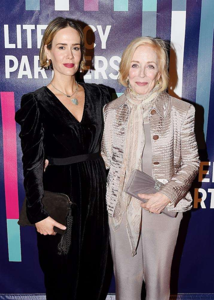 Sarah Paulson and Holland Taylor attend the Literacy