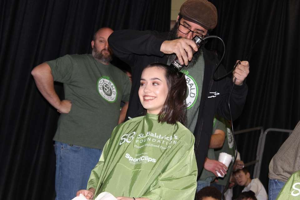 Isabella Celecia, 16, got her head shaved at