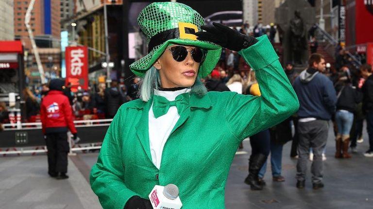 SiriusXM host Jenny McCarthy celebrates St. Patrick's Day