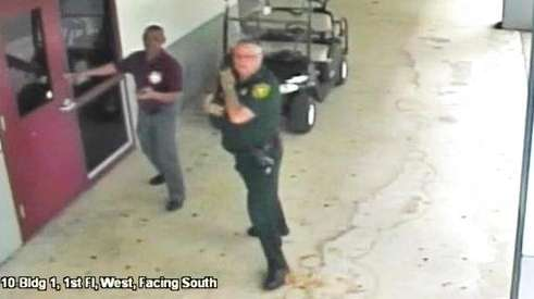 Video showing outside of Florida high school during shooting is released