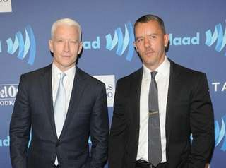 Anderson Cooper and Benjamin Maisani attend the VIP
