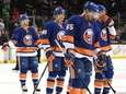 Islanders defenseman Johnny Boychuk and teammates skate off