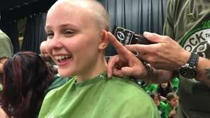 Patchogue's Meg Gabel, 17, got her head shaved