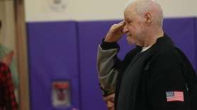 Vietnam veteran Robert Fabula received an honorary high school