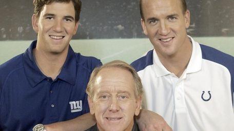 Giants quarterback Eli Manning, former Saints quarterback Archie