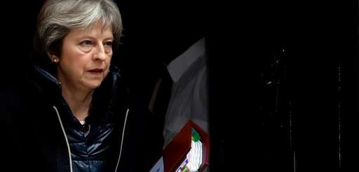 British Prime Minister Theresa May leaves 10 Downing