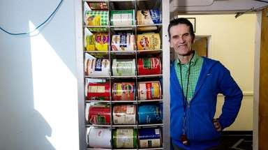 Rob Kammerer stands in the food storage area