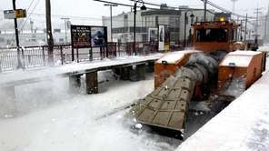 The LIRR uses its jet blower to clear