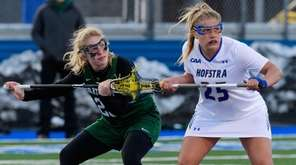Dartmouth's Kathryn Giroux, left, and Hofstra's Darcie Smith