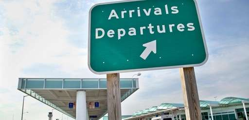 A sign indicates the passenger terminal at Long