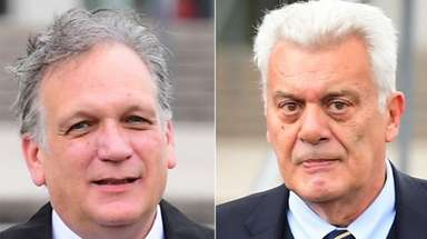 Nassau County Executive Edward Mangano, left, and former