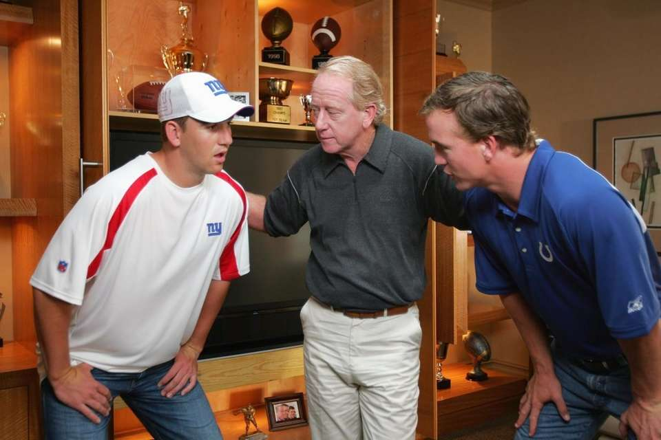 Eli, Archie and Peyton Manning on the