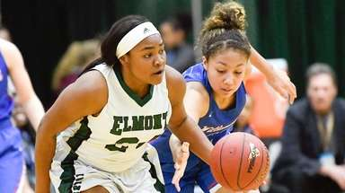 Elmont's Kem Nwabudu steals the ball from Williamsville