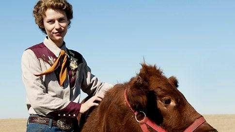 temple grandin and cow