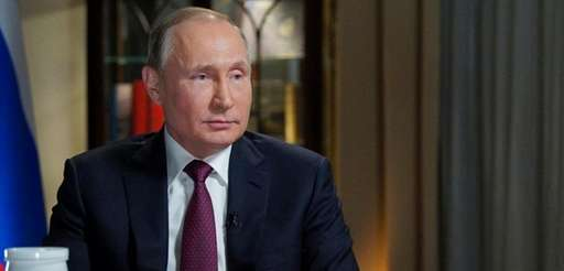 Russian President Vladimir Putin during an interview with