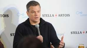 Matt Damon in New York in January.