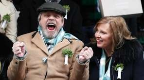 Mark Hamill and his wife, Marilou York, attend