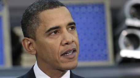 President Barack Obama speaks during his visit to