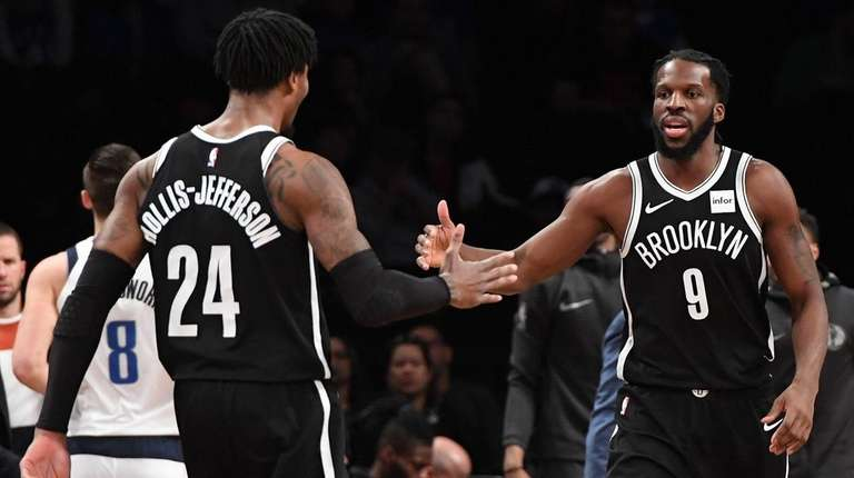 Nets forwards DeMarre Carroll and Rondae Hollis-Jefferson react