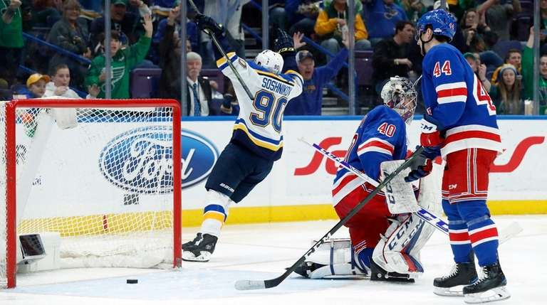 The Blues' Nikita Soshnikov celebrates after scoring past