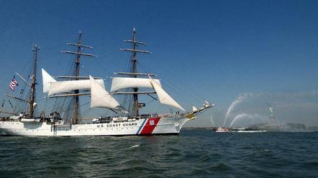 America's tall ship, the 295-foot U.S. Coast Guard