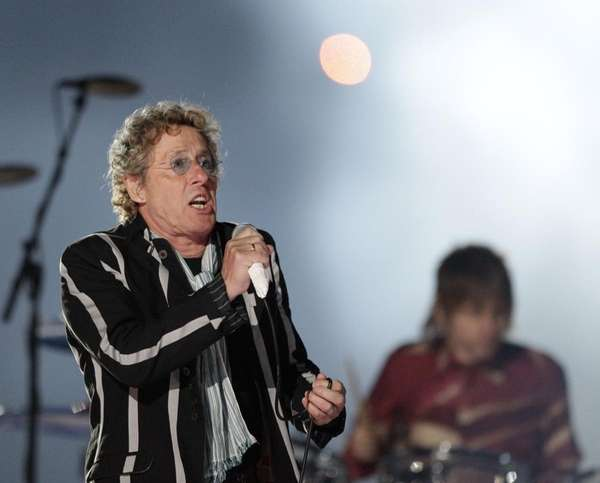 Roger Daltrey of The Who performs during halftime