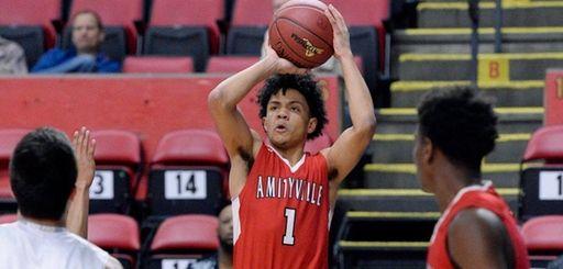 Amityville's Joshua Serrano gets a clear look at