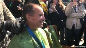 Rep. Thomas Suozzi's head was shaved during the