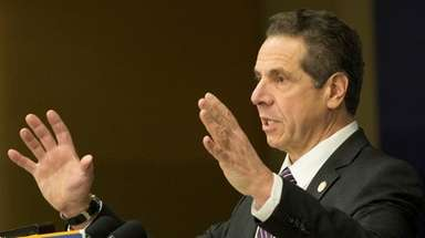 Gov. Andrew M. Cuomo seen here on Feb.