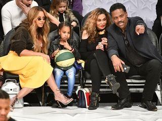 Beyoncé, Blue Ivy Carter, Tina Knowles and Richard