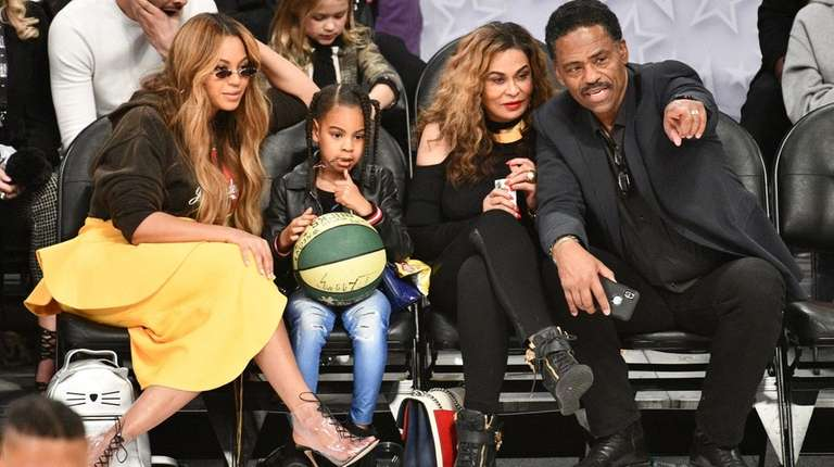 Beyoncé, Blue Ivy Carter, Tina Knowles and Richard