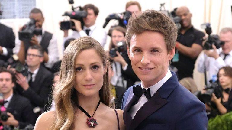 Hannah Bagshawe and Eddie Redmayne attend the Met