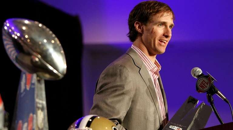Super Bowl XLIV MVP Drew Brees will be