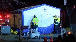 Twenty-five people were sickened with carbon monoxide poisoning