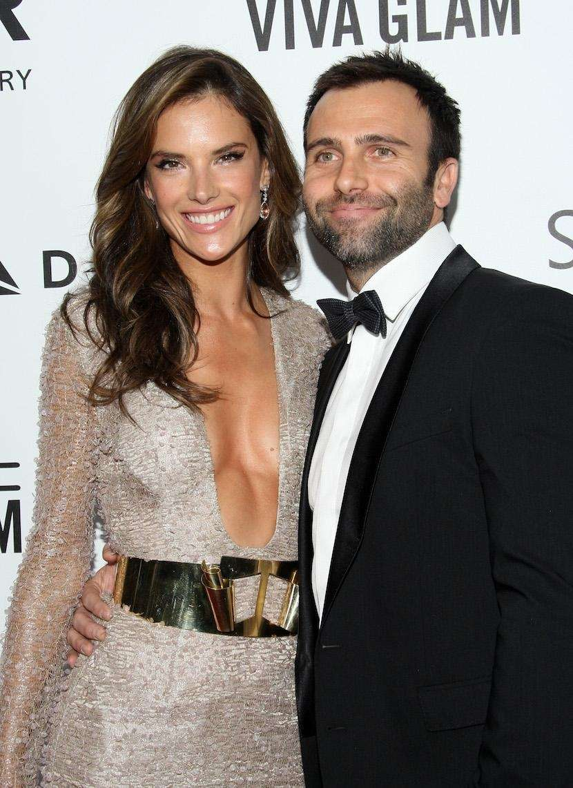 Supermodel Alessandra Ambrosio and her fiancé of 10