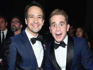 Lin Manuel-Miranda, left, and Ben Platt at the